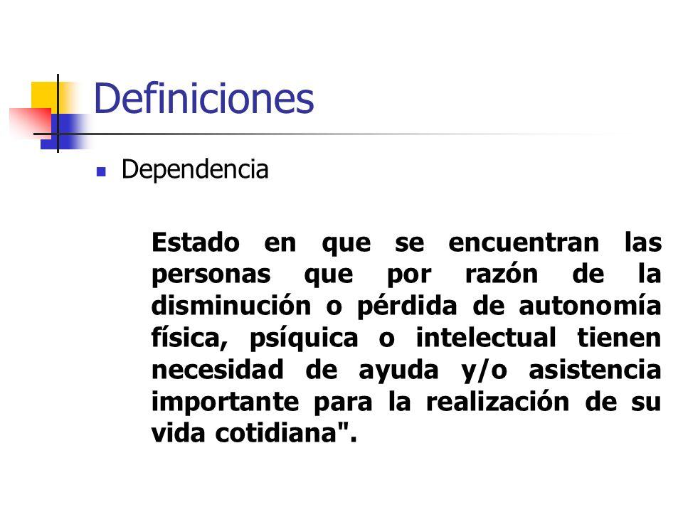 Definiciones Dependencia