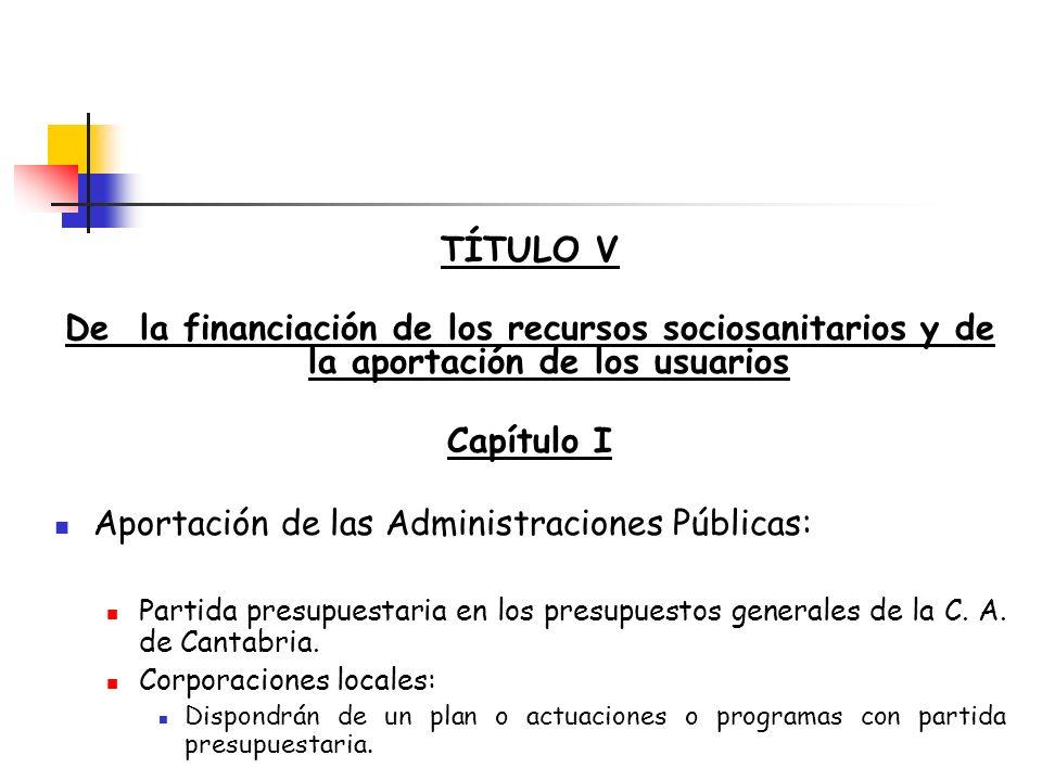 Aportación de las Administraciones Públicas: