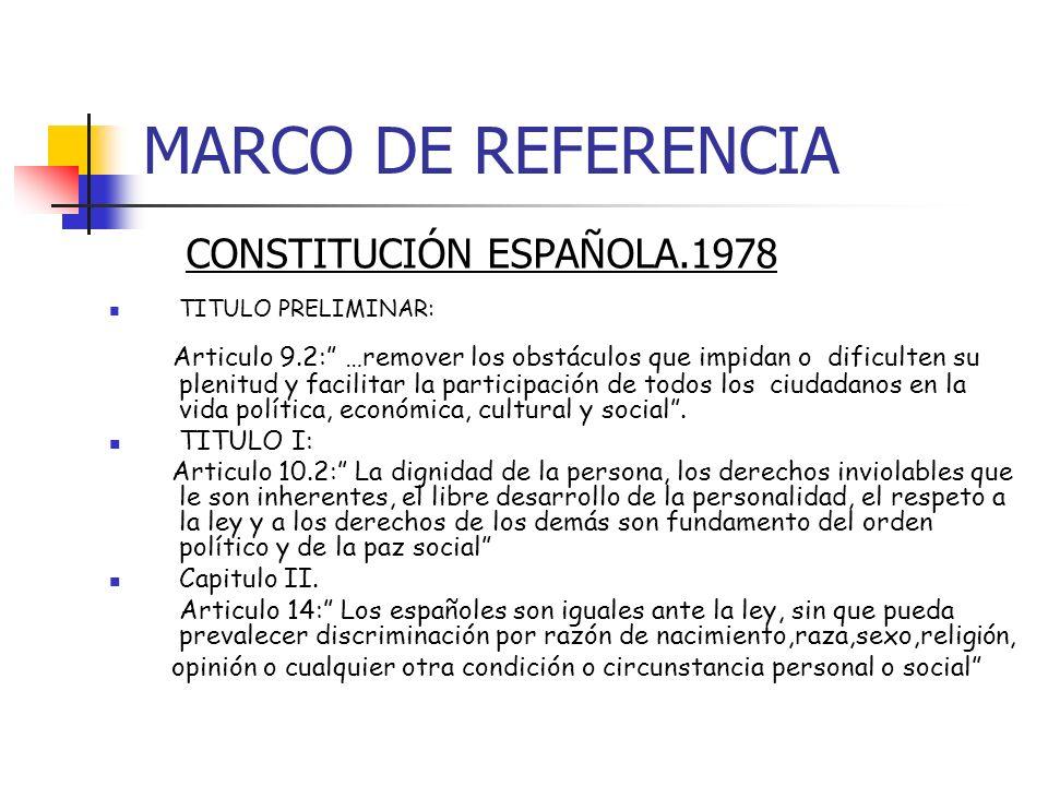 MARCO DE REFERENCIA CONSTITUCIÓN ESPAÑOLA.1978