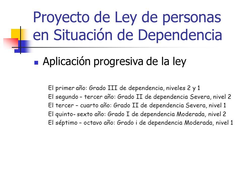 Proyecto de Ley de personas en Situación de Dependencia