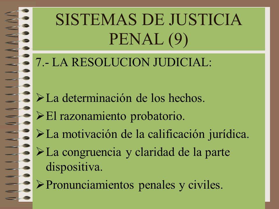 SISTEMAS DE JUSTICIA PENAL (9)