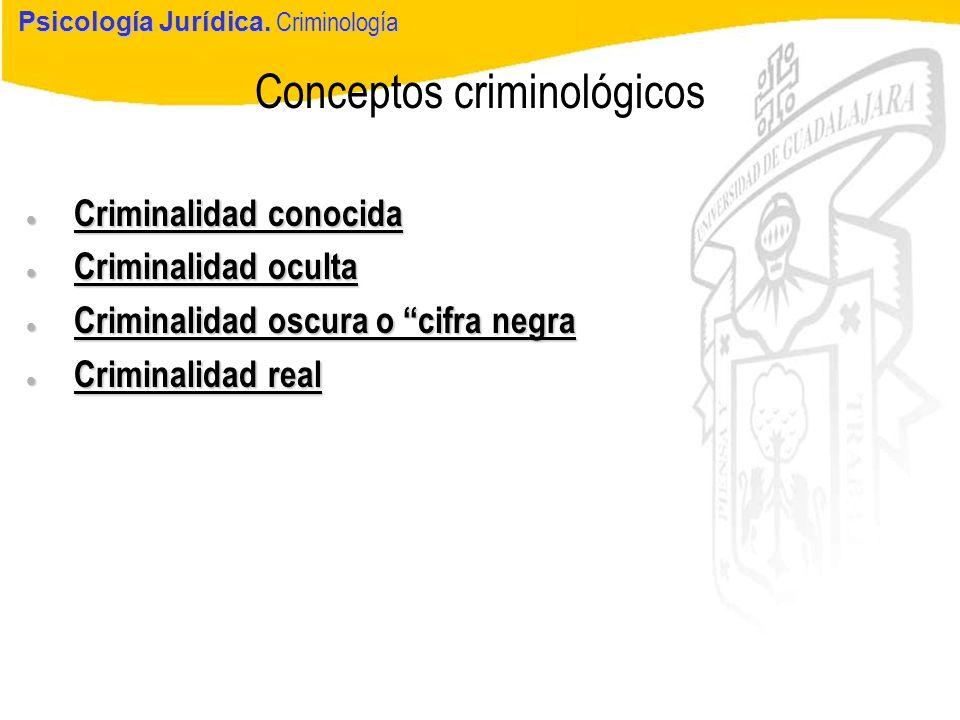 Conceptos criminológicos