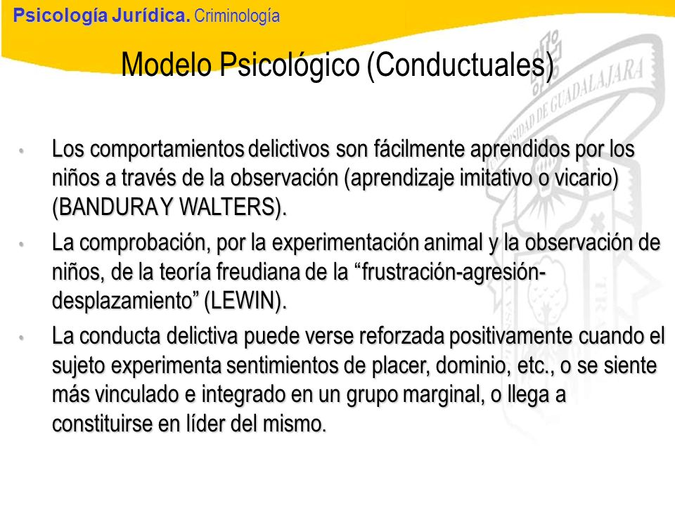 Modelo Psicológico (Conductuales)