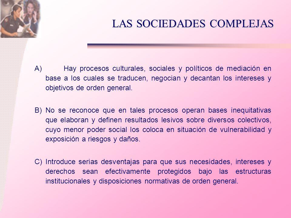 LAS SOCIEDADES COMPLEJAS