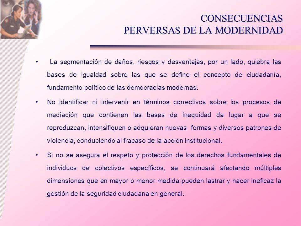 CONSECUENCIAS PERVERSAS DE LA MODERNIDAD