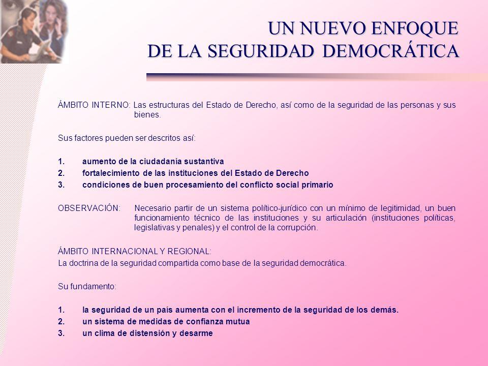 UN NUEVO ENFOQUE DE LA SEGURIDAD DEMOCRÁTICA