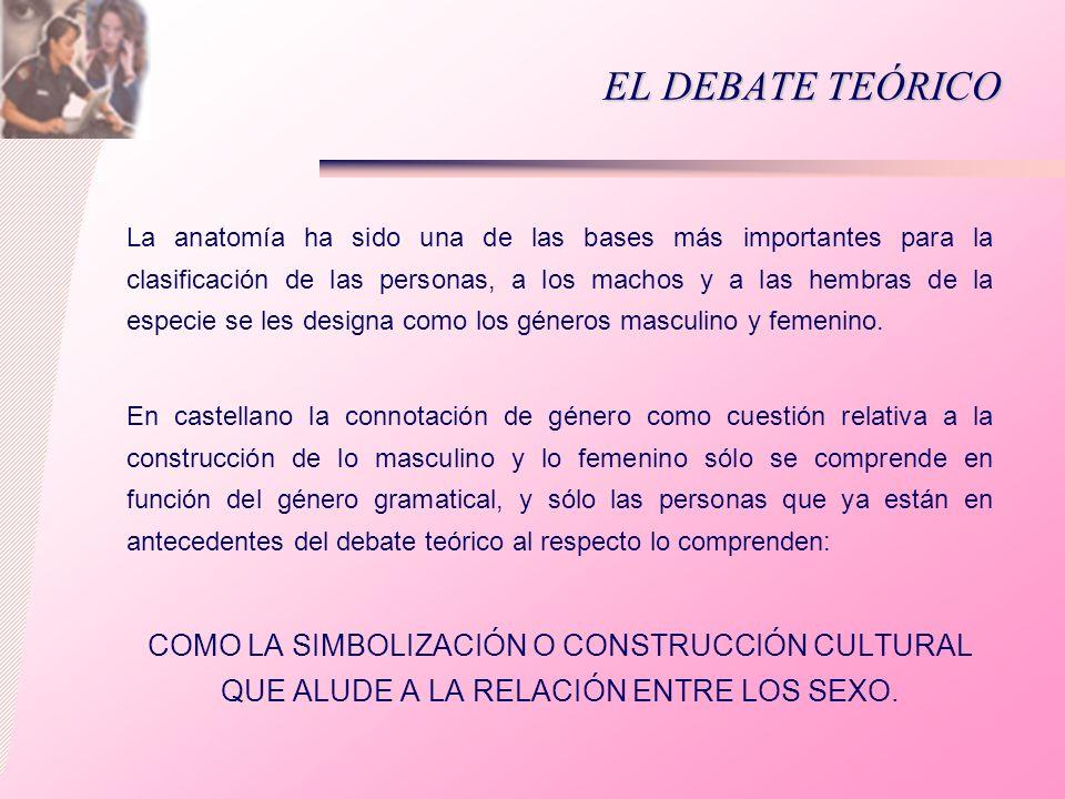 EL DEBATE TEÓRICO