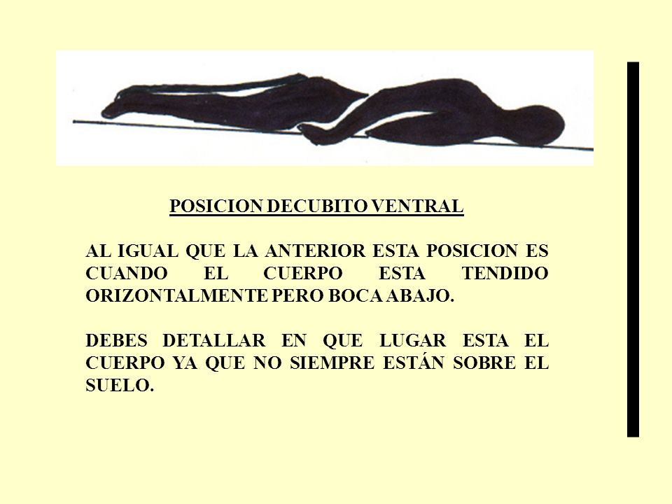 POSICION DECUBITO VENTRAL