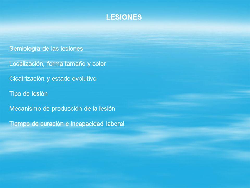 LESIONES Semiología de las lesiones Localización, forma tamaño y color