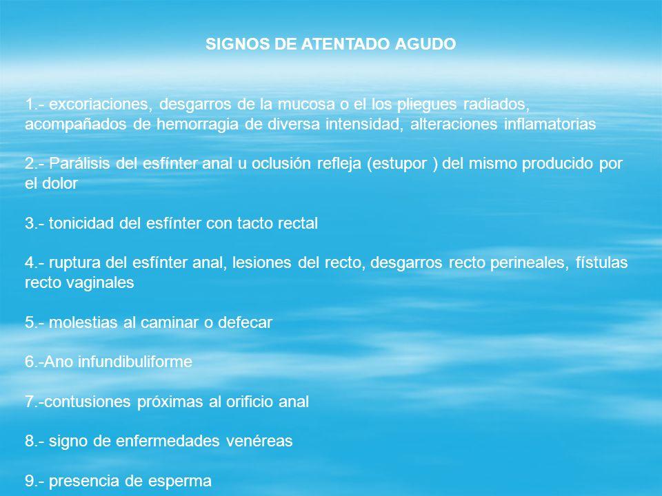 SIGNOS DE ATENTADO AGUDO