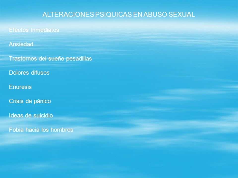ALTERACIONES PSIQUICAS EN ABUSO SEXUAL