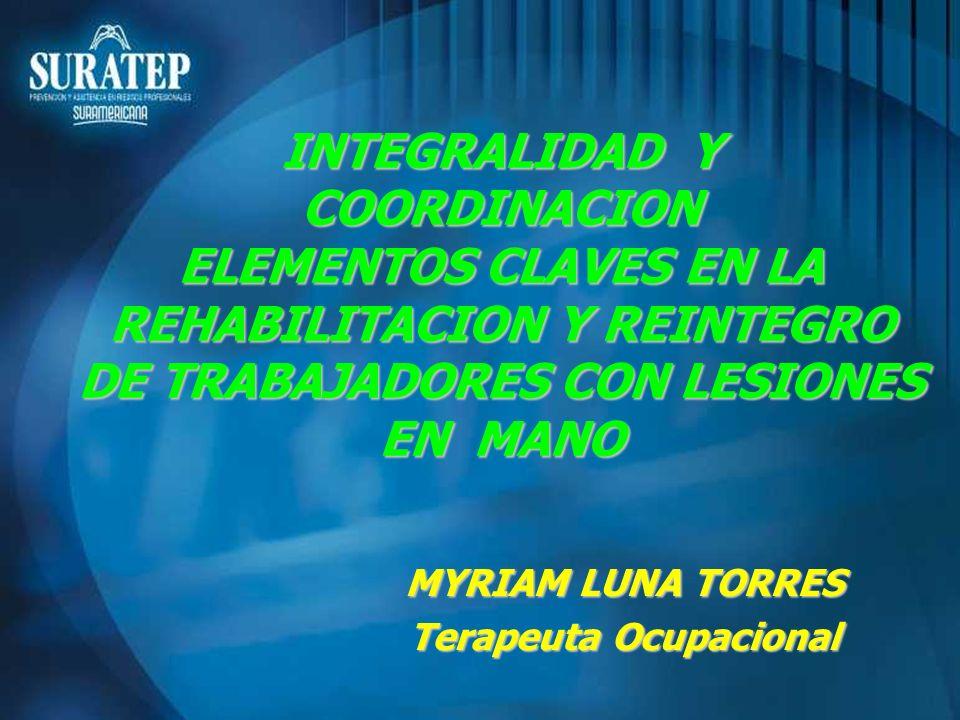 MYRIAM LUNA TORRES Terapeuta Ocupacional