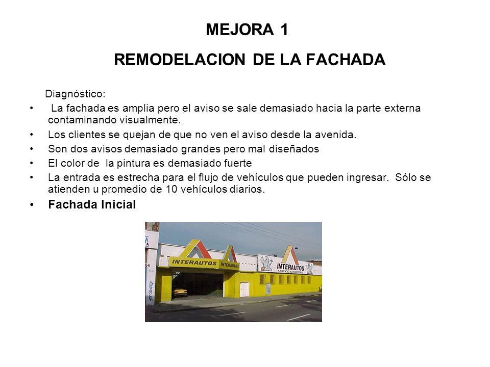 MEJORA 1 REMODELACION DE LA FACHADA