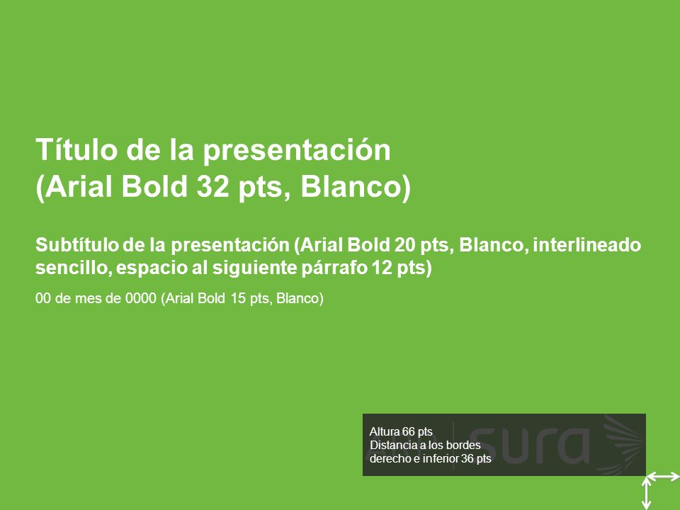 Título de la presentación (Arial Bold 32 pts, Blanco)