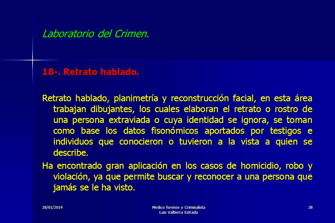 Laboratorio del Crimen.