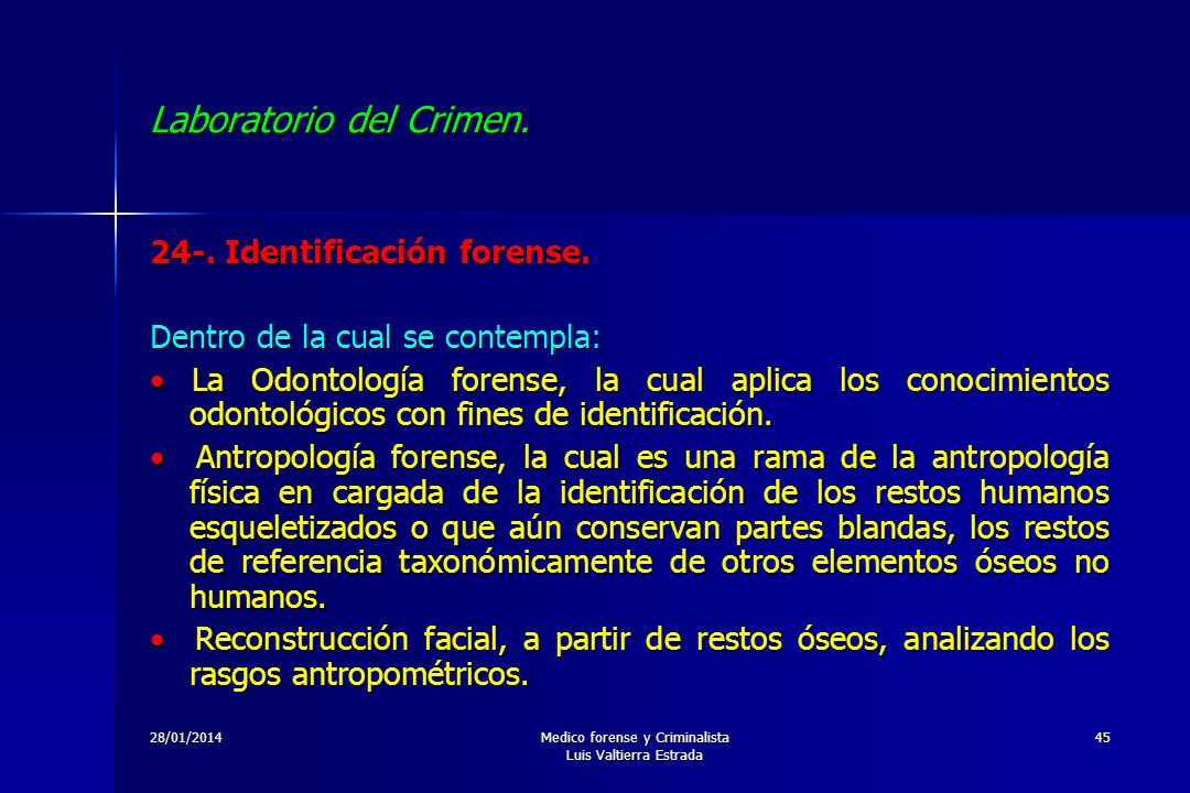 Laboratorio del crimen ppt descargar for Elementos antropometricos