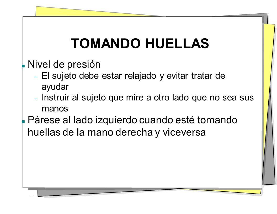 TOMANDO HUELLAS Nivel de presión
