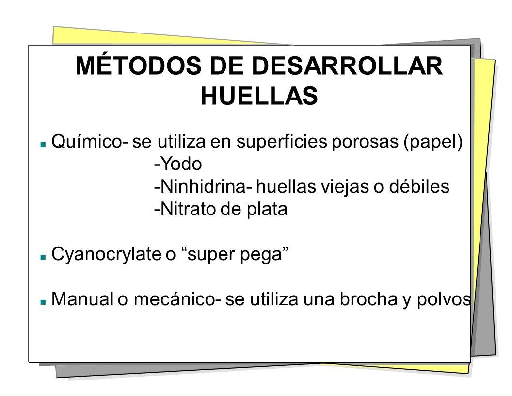 MÉTODOS DE DESARROLLAR HUELLAS
