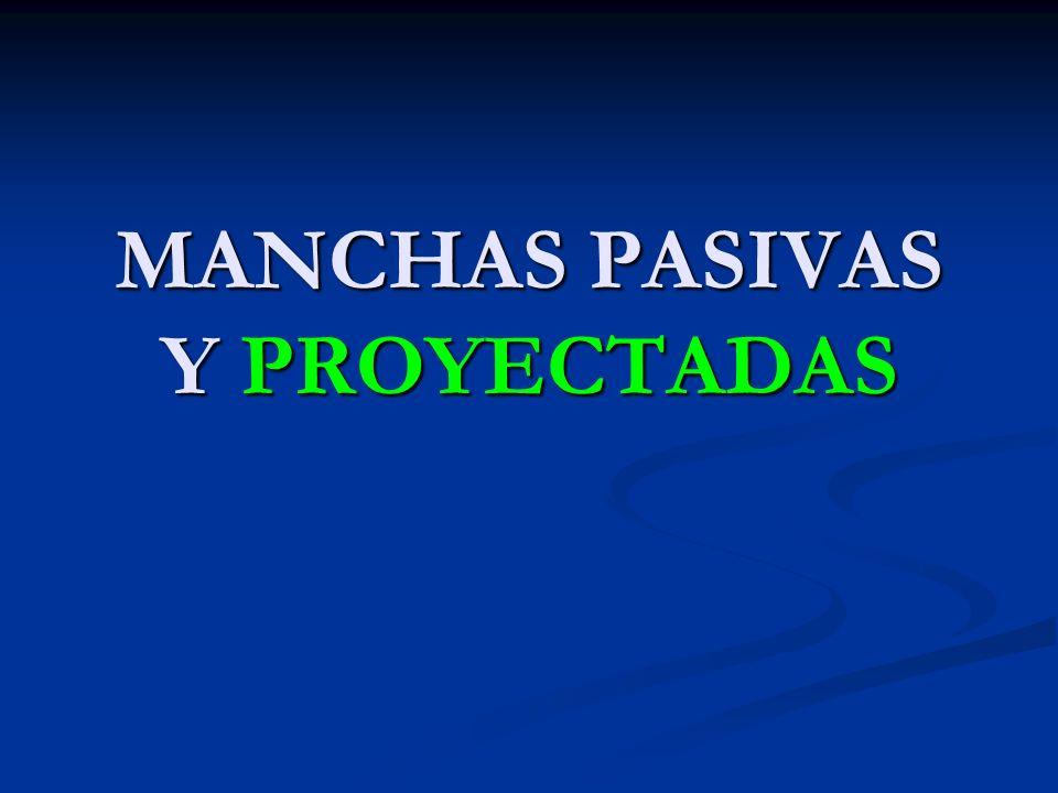 MANCHAS PASIVAS Y PROYECTADAS