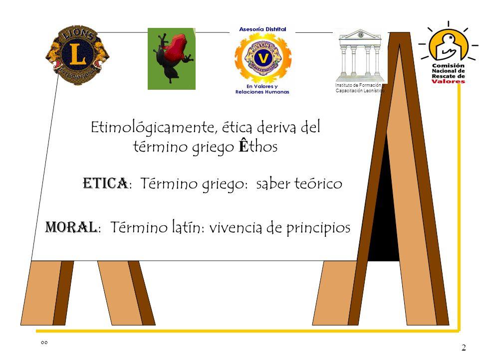 Etimológicamente, ética deriva del término griego Êthos