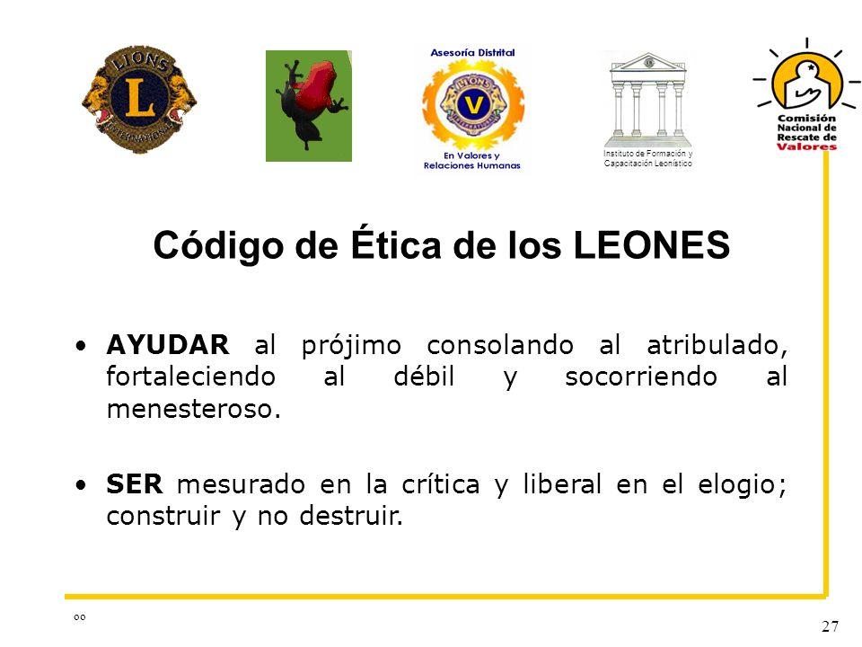 Código de Ética de los LEONES