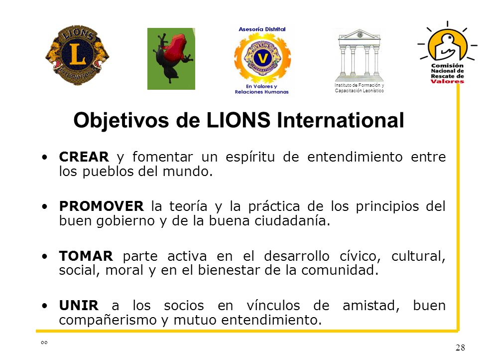 Objetivos de LIONS International