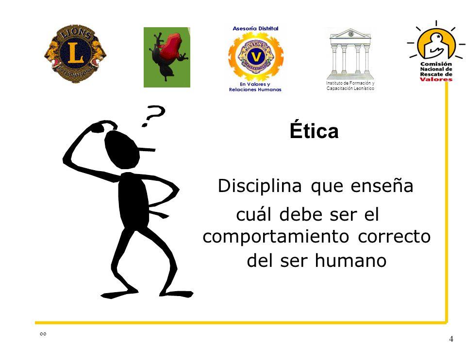 Ética Disciplina que enseña