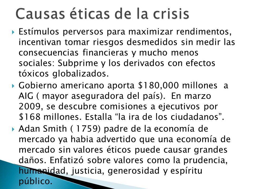 Causas éticas de la crisis