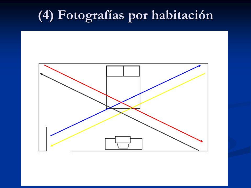 (4) Fotografías por habitación