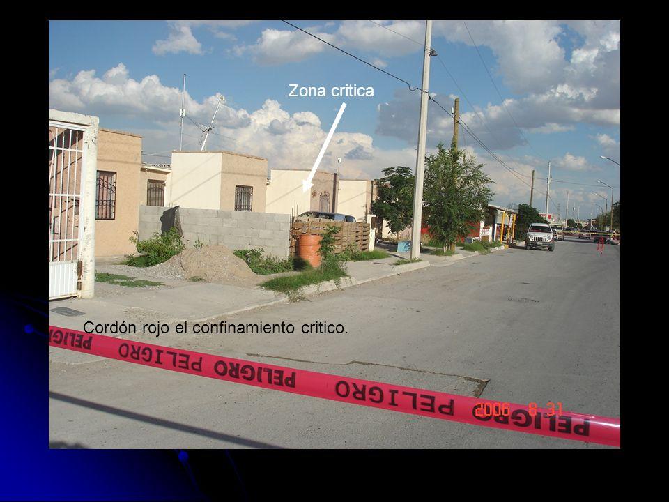 Zona critica Cordón rojo el confinamiento critico.