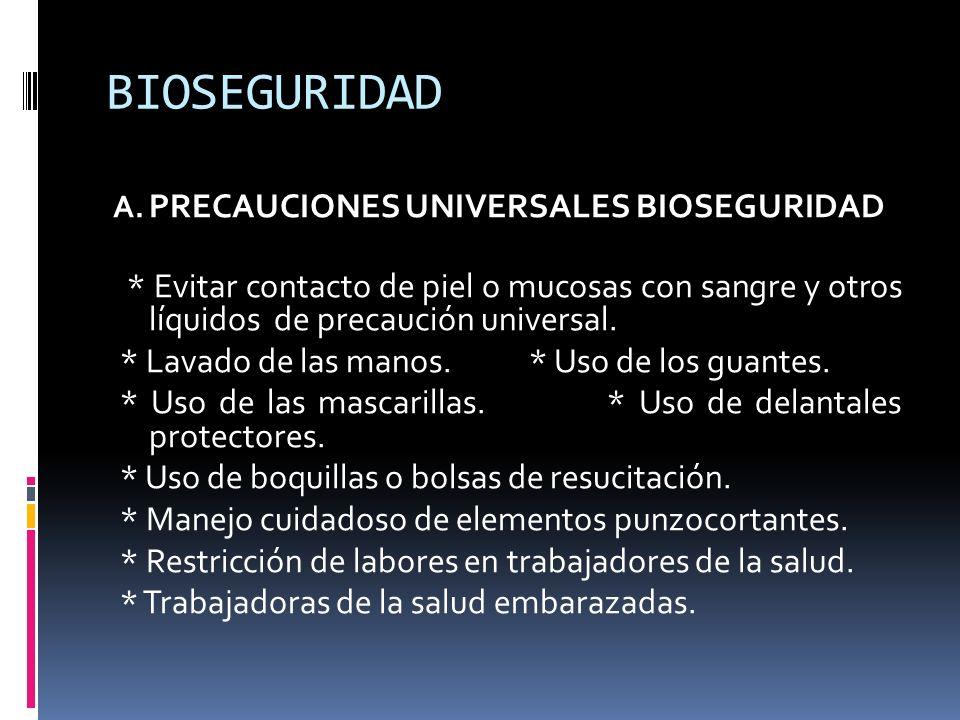 BIOSEGURIDAD PRECAUCIONES UNIVERSALES BIOSEGURIDAD