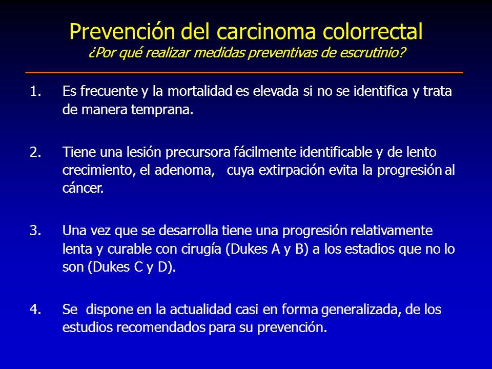 Prevención del carcinoma colorrectal ¿Por qué realizar medidas preventivas de escrutinio