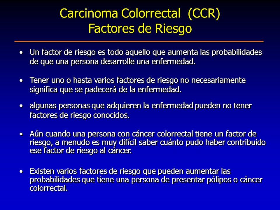 Carcinoma Colorrectal (CCR) Factores de Riesgo