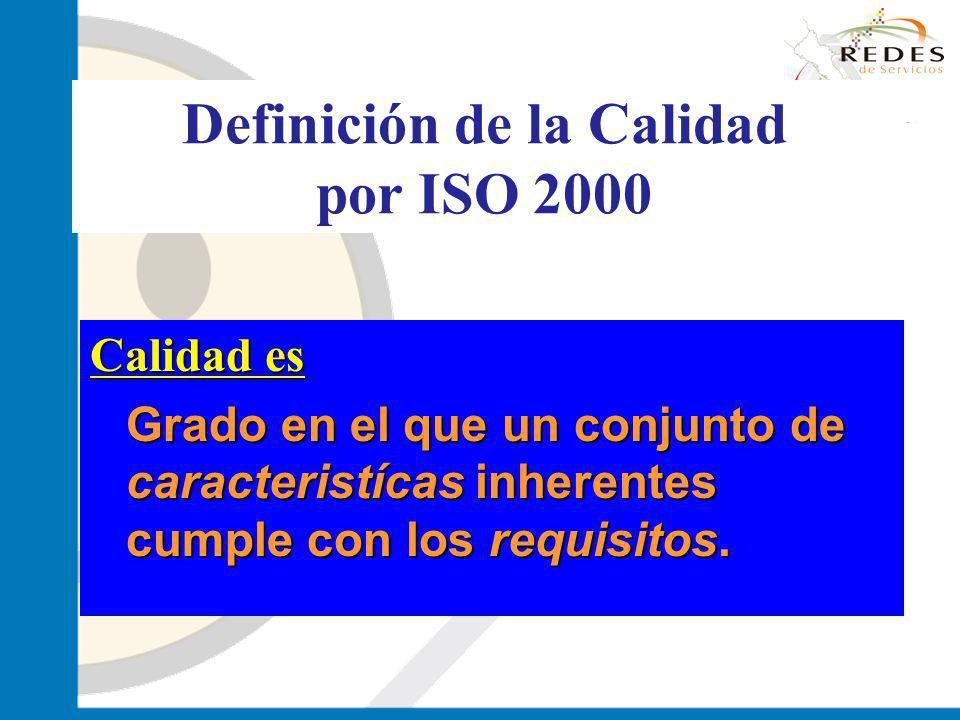 Definición de la Calidad por ISO 2000