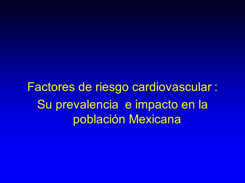 Factores de riesgo cardiovascular :