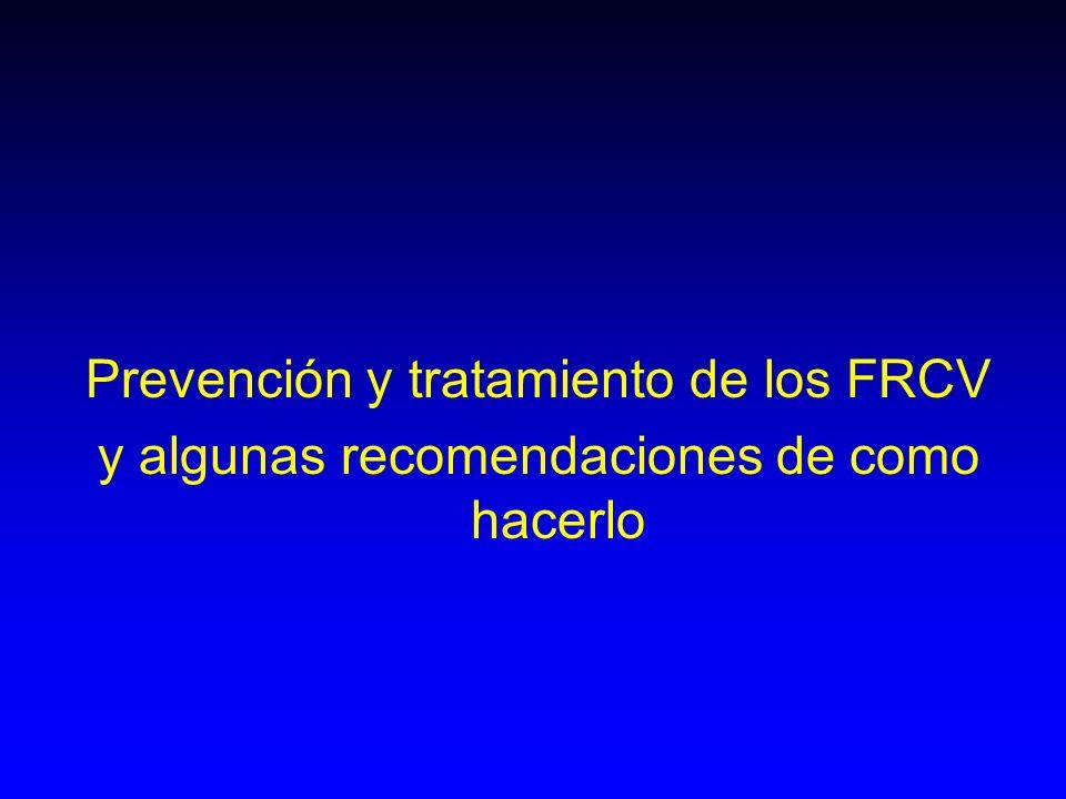 Prevención y tratamiento de los FRCV