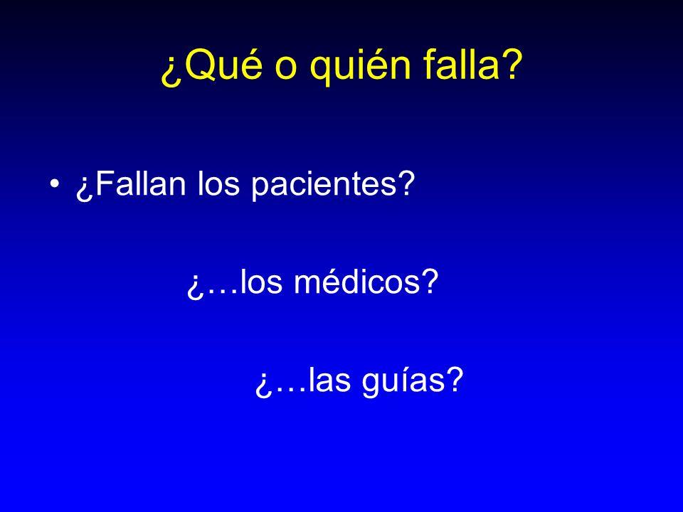 ¿Qué o quién falla ¿Fallan los pacientes ¿…los médicos ¿…las guías