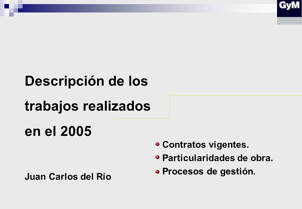 Descripción de los trabajos realizados en el 2005