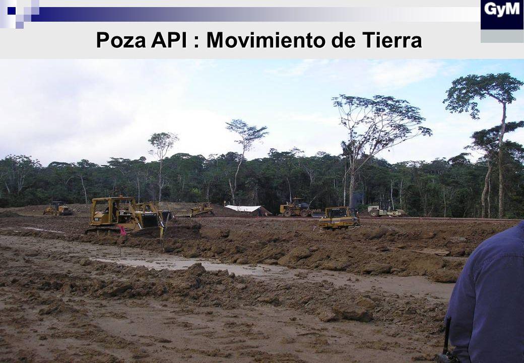 Poza API : Movimiento de Tierra