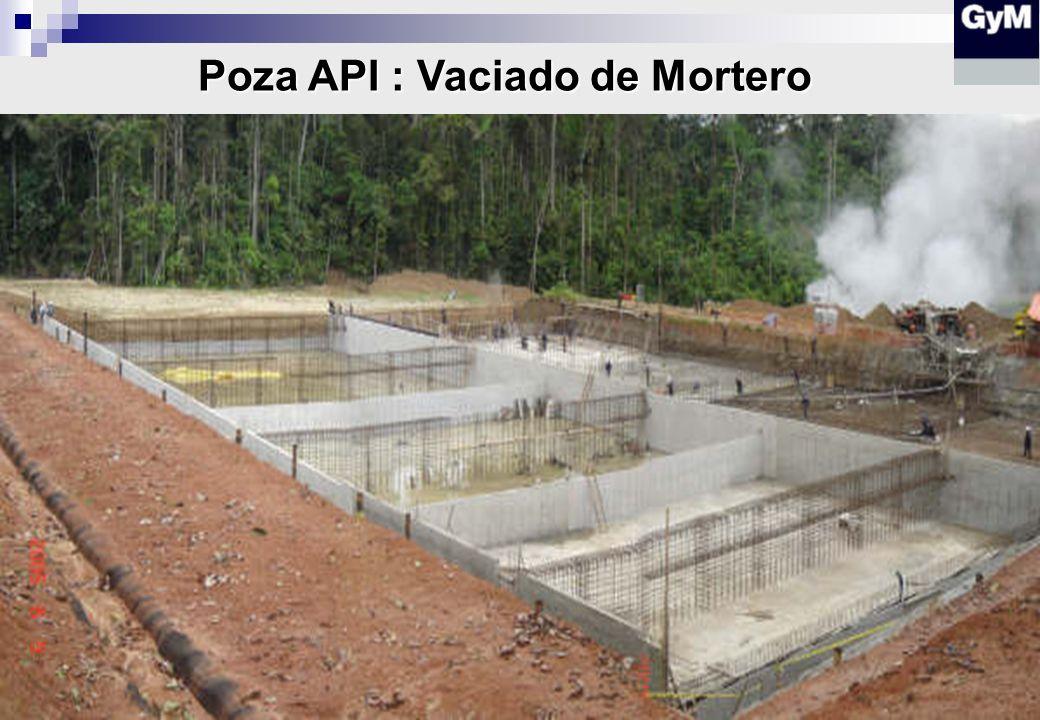 Poza API : Vaciado de Mortero