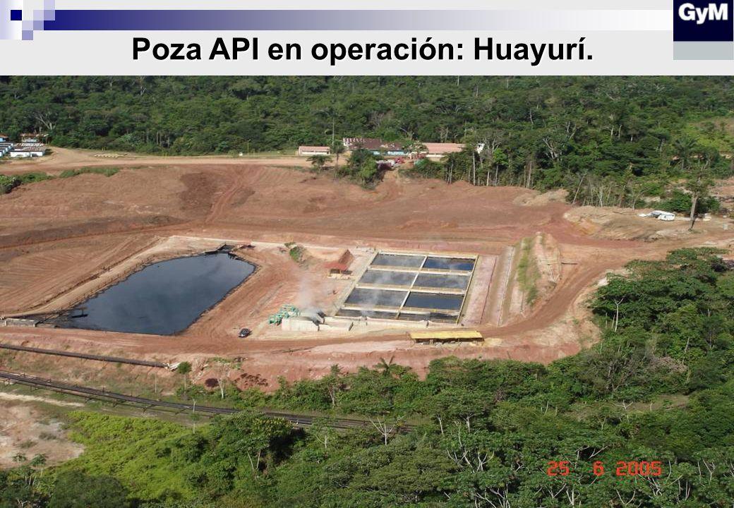 Poza API en operación: Huayurí.