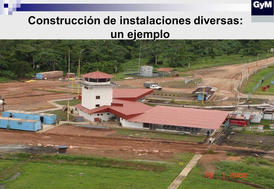 Construcción de instalaciones diversas: un ejemplo