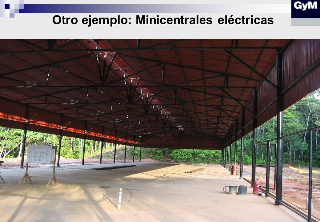 Otro ejemplo: Minicentrales eléctricas