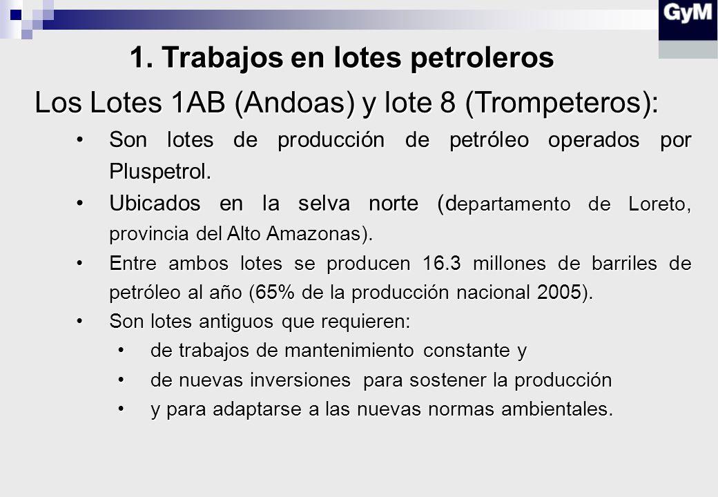 1. Trabajos en lotes petroleros