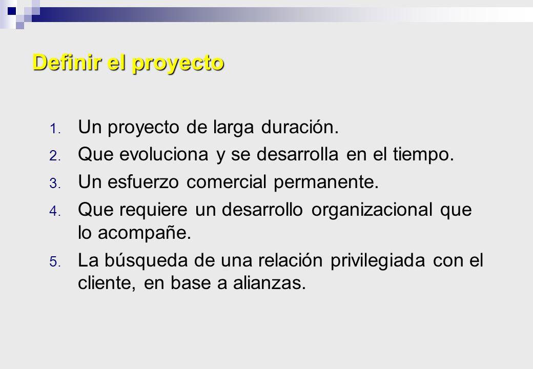 Definir el proyecto Un proyecto de larga duración.