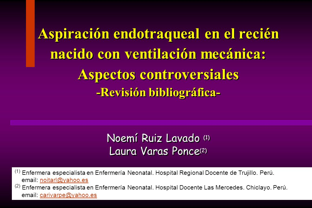Noemí Ruiz Lavado (1) Laura Varas Ponce(2)