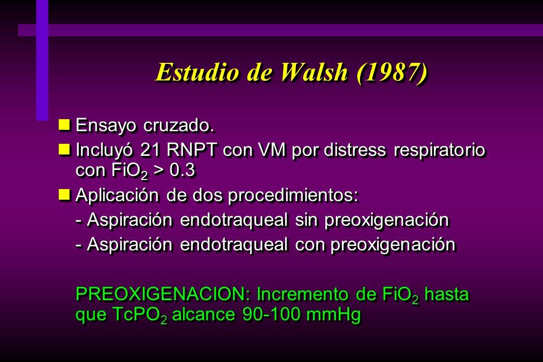 Estudio de Walsh (1987) Ensayo cruzado.