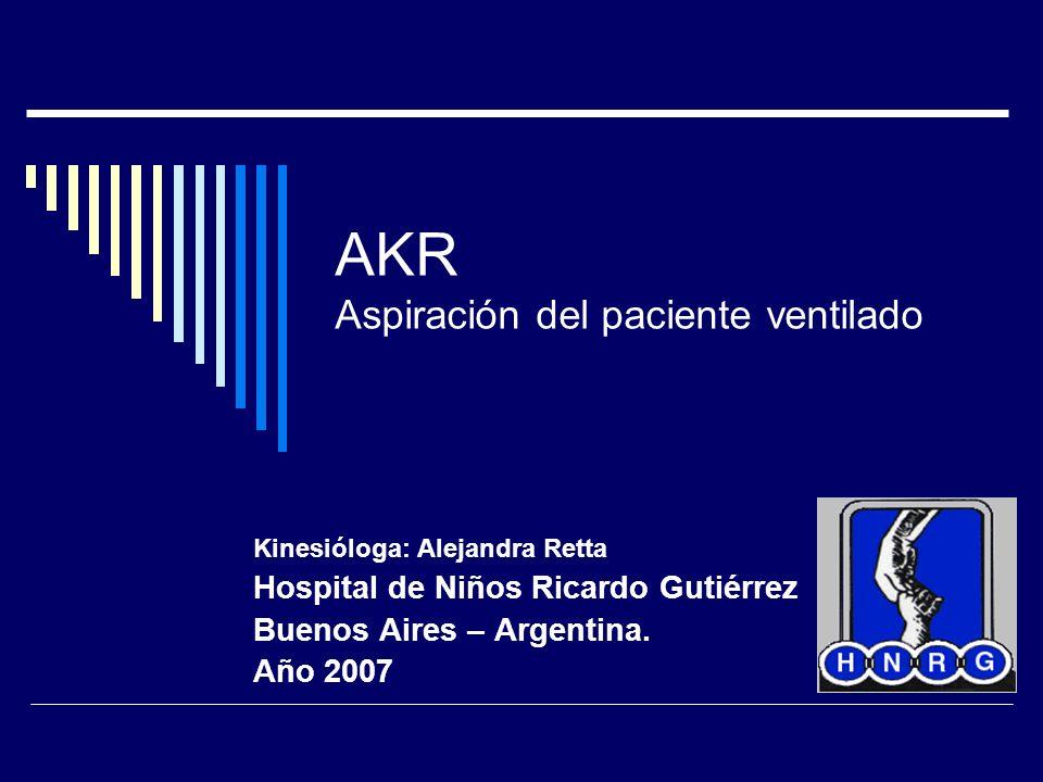 AKR Aspiración del paciente ventilado