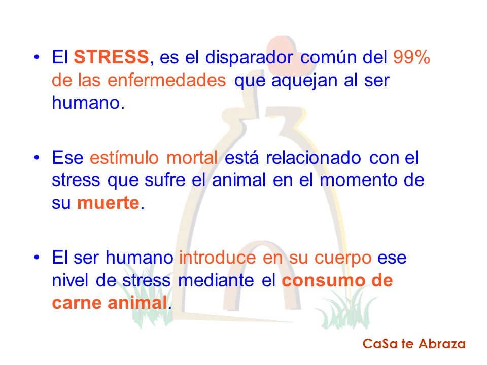 El STRESS, es el disparador común del 99% de las enfermedades que aquejan al ser humano.