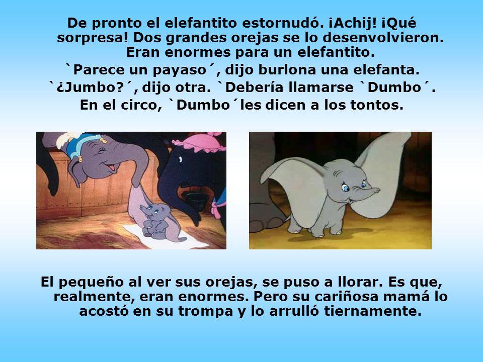 `Parece un payaso´, dijo burlona una elefanta.
